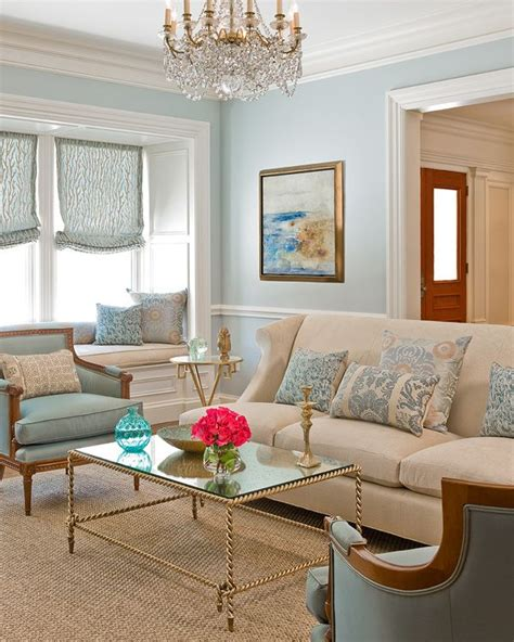 blue living room gold accents inspiring living
