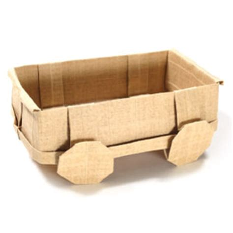 How To Make A Paper Wagon - how to make a 3d origami wagon page 1