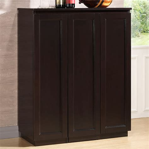Upright Bar Cabinet Baltimore Wooden Bar Cabinet Wenge Sliding Vertical Storage Dcg Stores