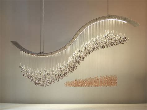 swarovski ceiling light fixtures crashing wave swarovski crystal chandelier by water