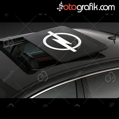 opel logo sunroof oto sticker otografik