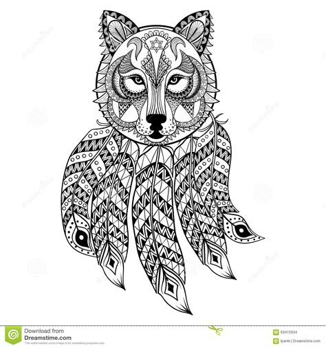 Wolf Zentangle Outline by Wolf Catcher Coloring Pages Pages Catcher Coloring Pages