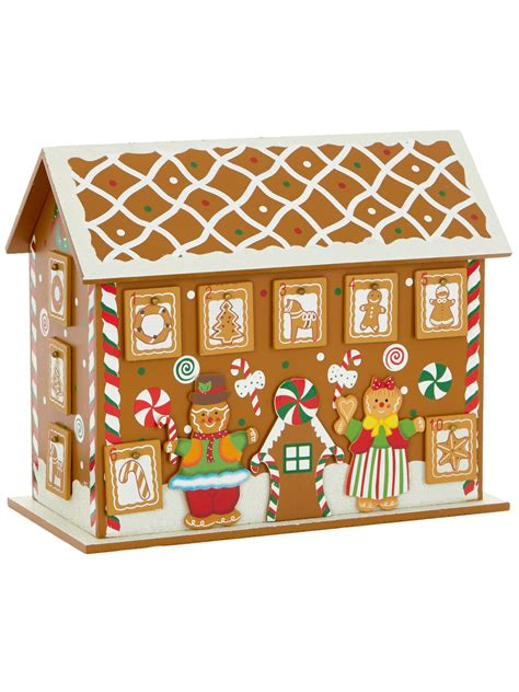 Wooden Advent Calendar House by Deluxe Wooden Advent House Calendar Decoration