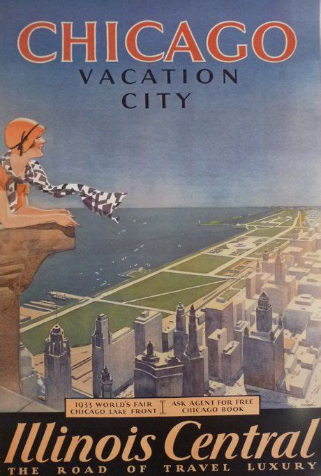 chicago vacation city foley s finds travel posters