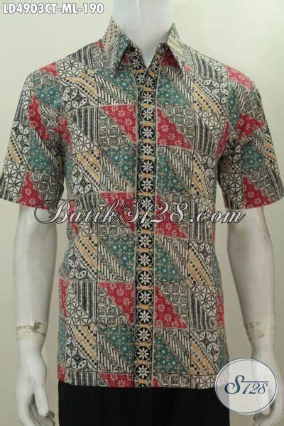 desain baju batik yang modis distro pakaian batik jual online hem lengan pendek bahan