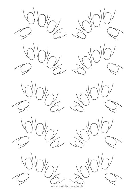 nail art template nail lacquer uk