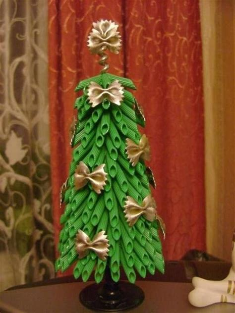 how to decorate atable tp christmas tree crafts for tree ornaments with pasta