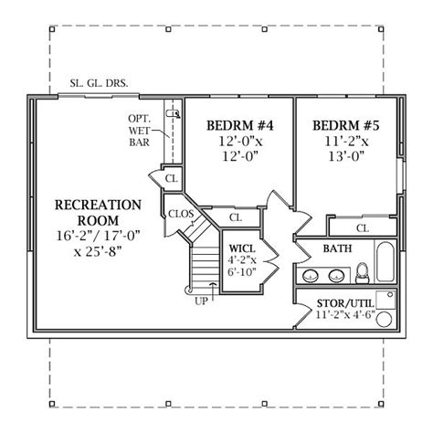 basement house floor plans optional walk out basement plan image of lakeview house