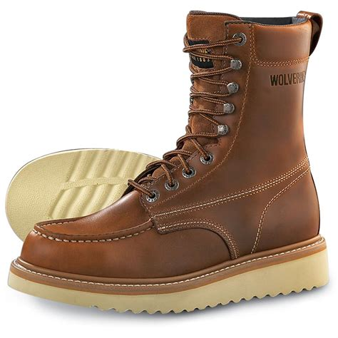 boots for mens work wolverine s moc toe 8 quot work boots 87293 work boots