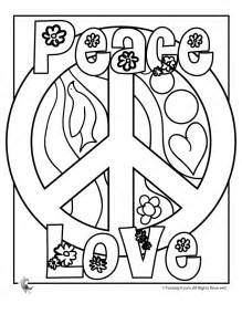 peace sign coloring pages flower power coloring fantasy jr coloring pages