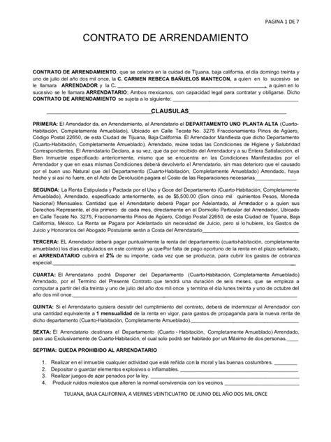 contrato de renta de casa en espanol gratis copia en blanco de contrato de arrendamiento