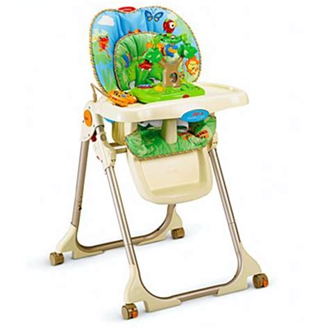 Rainforest Healthy Care High Chair Baby Gear Equipment Products Supplies Fisher Price