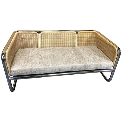 wicker couch for sale martin visser wicker and chrome cantilever couch for sale