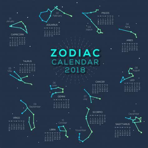 astrological almanac for 2018 books calendar zodiac 2018 smart design vector premium