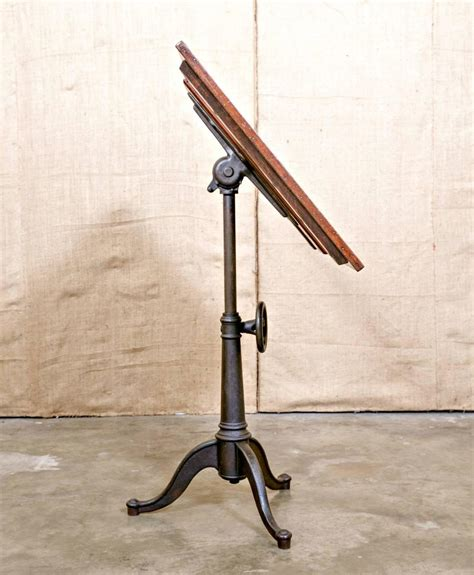 Cast Iron Drafting Table Base Vintage Cast Iron Articulating Tripod Base Drafting Table At 1stdibs