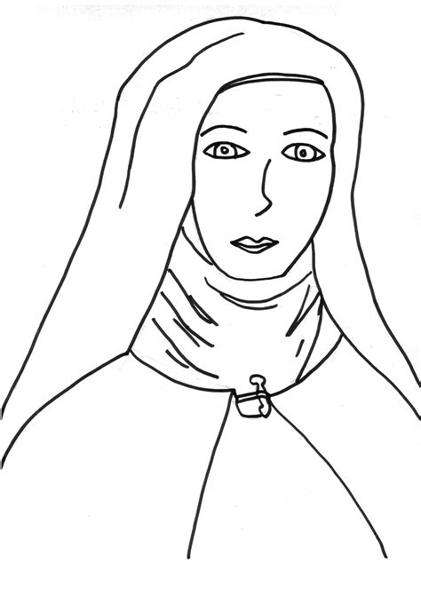 st teresa calcuta coloring page coloring pages