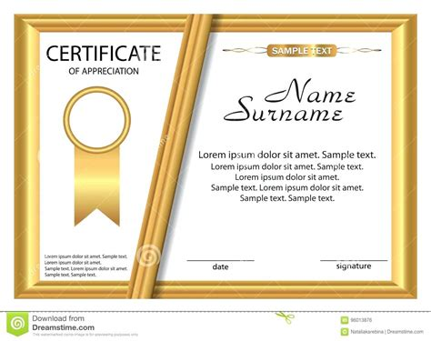 Templates Of by Template Sle Template Of Certificate Of Appreciation
