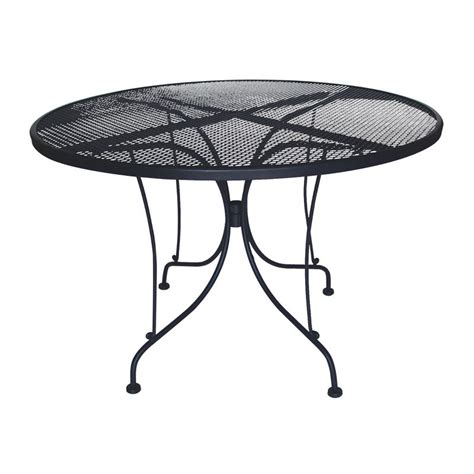 Iron Patio Tables Charleston 48 In Wrought Iron Table Patio Dining Tables At Hayneedle