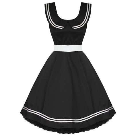 vintage swing kleid damen kleid schwarz 50 er jahre vintage matrosen stil