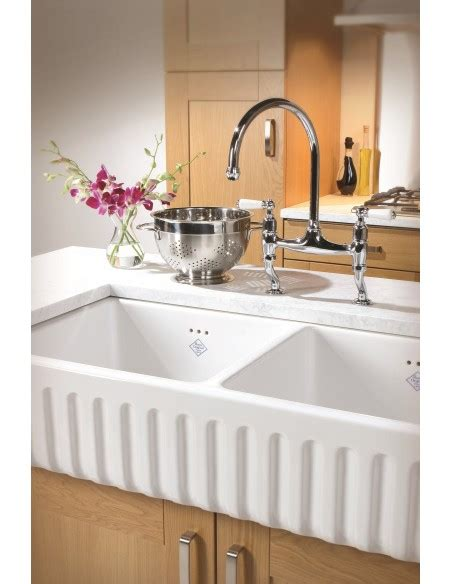 Shaws Kitchen Sinks by Shaws Ribchester Traditional White Ceramic Kitchen Sink
