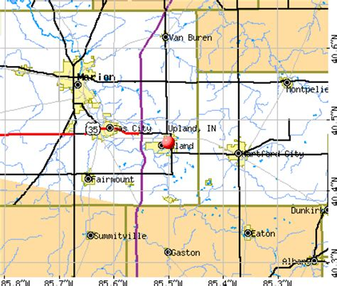 zip code map upland ca upland indiana in 46989 profile population maps real