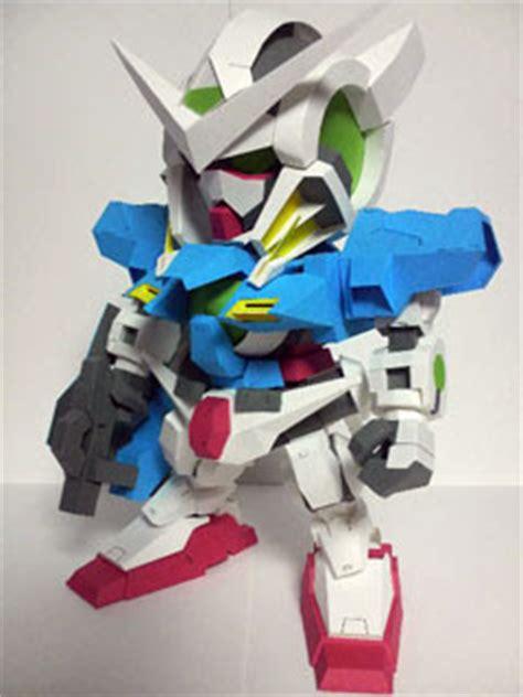 Puzzle Kertas Gundam Gao Da Model A sd gundam exia r2 papercraft photos paperkraft net