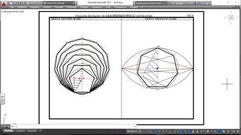 tavole geometriche tavola 8 regola generale per la costruzione dei poligoni