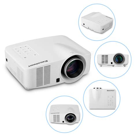 Android Projector by Excelvan 2000lumens Led Wifi Android Projector Av Hdmi Out