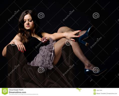 girls armchair girl in a armchair stock image image 12877391