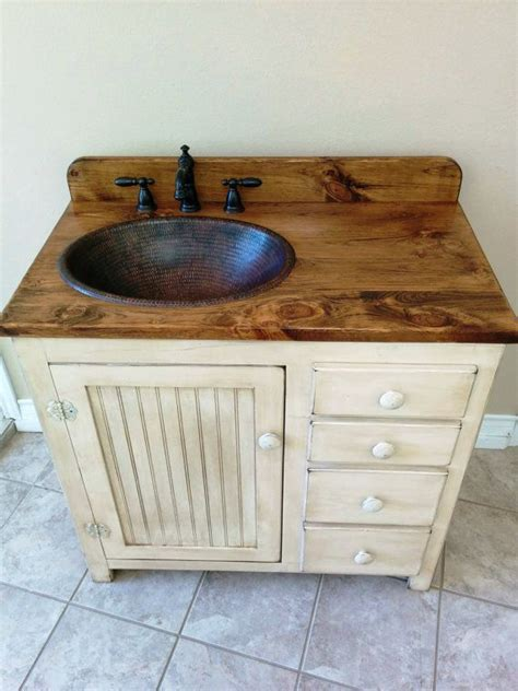 bathroom vanity 36 quot copper sink rustic bathroom