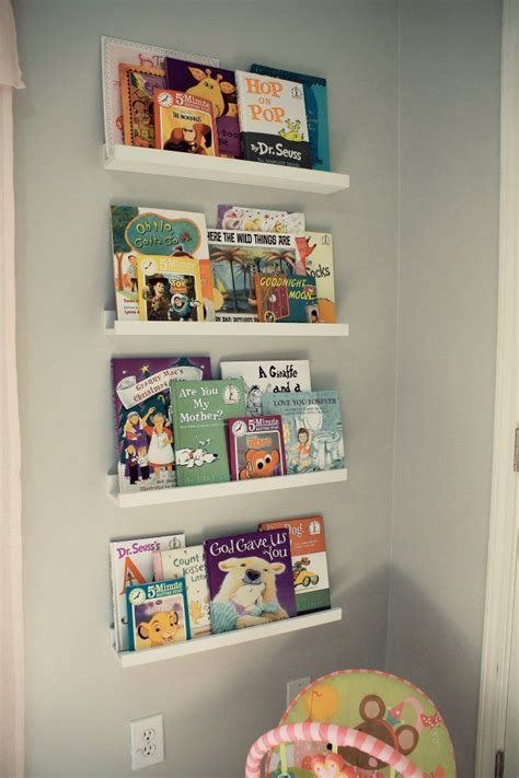Meila S Pink And Gray Nursery Bookshelves For Nursery
