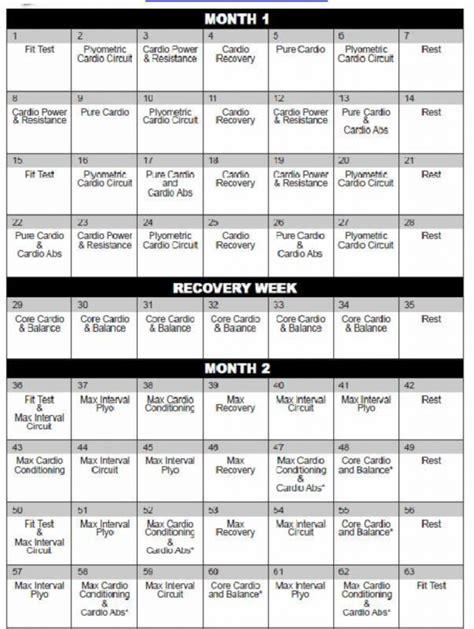 Printable Version Of Insanity Workout Calendar | insanity calendar printable onlyagame