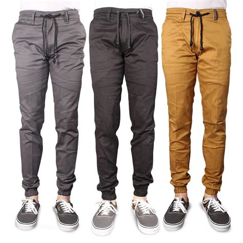 jogger bahan cotton twill stretch elevenia