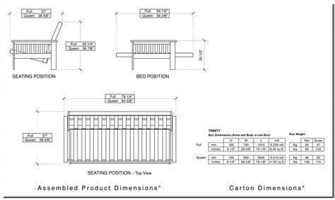Futon Sizes by Parkwood Futon Frame Futon D Or