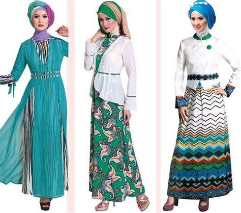 Gamis Batik Hana 06 contoh model baju muslim modern 2015 fashion