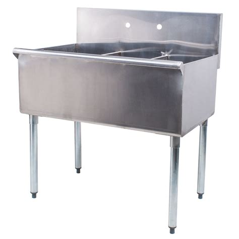 Stainless Steel Commercial Sinks by Regency 36 Quot 16 Stainless Steel Three Compartment