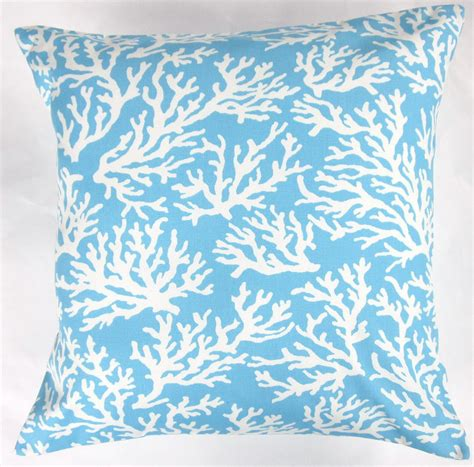 light blue body pillow cover blue pillow cover light blue and white coral indoor outdoor