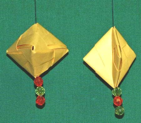 Hanging Paper Crafts - funezcrafts easy paper crafts folded box ornament