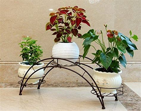 amazoncom dazone arch metal potted plant stand