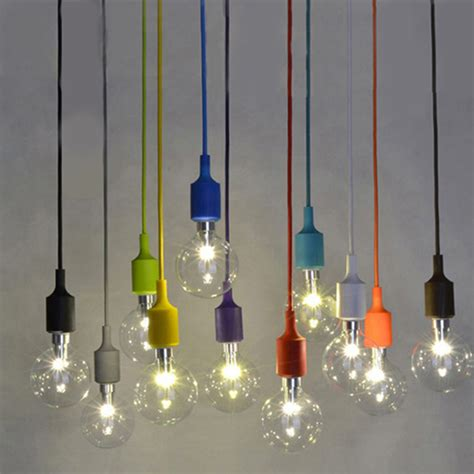 hanging light bulb pendant silicone material bulb shaped glass pendant l colorful