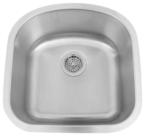 D Shaped Kitchen Sink 19 Quot Infinite D Shaped Stainless Steel Undermount Prep Sink Traditional Kitchen Sinks