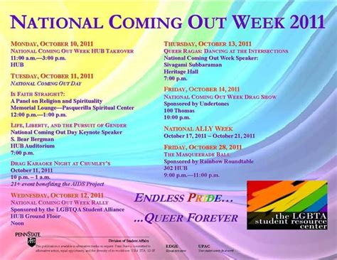 Out And About Nation 10 by National Coming Out Week Events