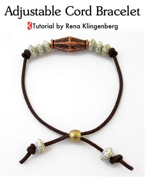 how to make jewelry with leather cord adjustable cord bracelet tutorial jewelry journal