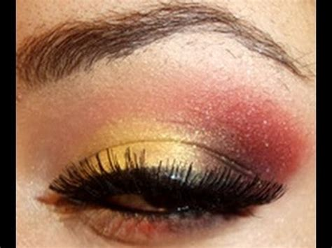 gold  red festive holiday makeup tutorial youtube