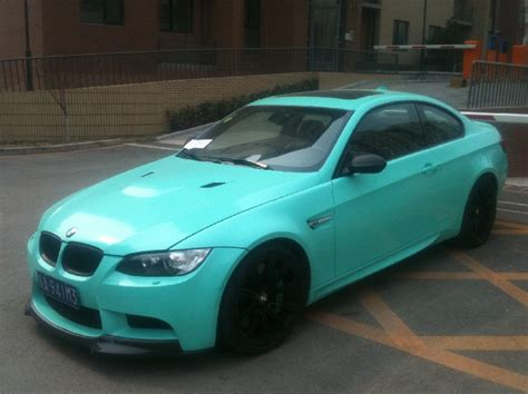 mint color car mint green bmw e92 m3 spotted in china autoevolution