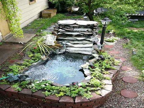 easy backyard pond ideas small garden waterfall ideas easy above ground ponds