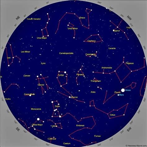 printable star map tonight learning the night sky using free astronomy apps on
