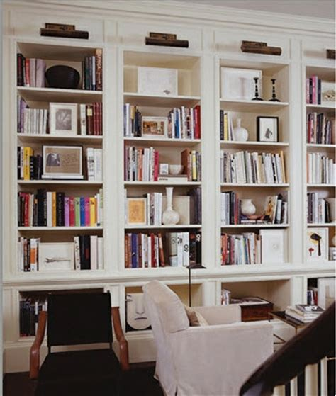 Library Bookcase Lighting White Interiors