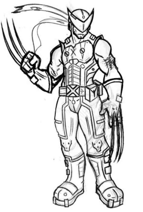 coloring pages for wolverine free get this printable wolverine coloring pages free