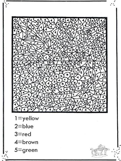 coloring pages with numbers for adults coloring pages for teenagers difficult color by number